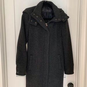 Long dark gray Zara coat